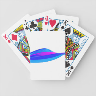 Colorful wave bicycle playing cards