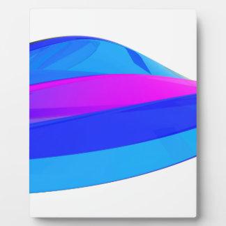 Colorful wave plaque