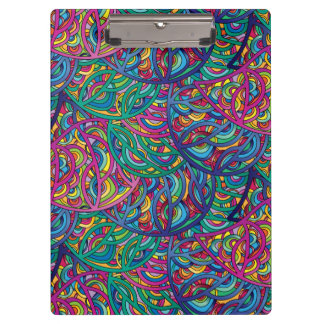 Colorful Waves Abstract Pattern Clipboard