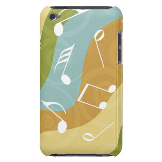 Colorful Waves of Music Notes iPod Touch Cases