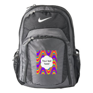 Colorful waves pattern backpack