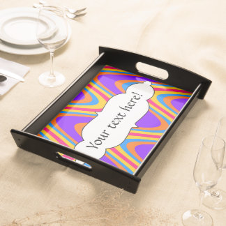 Colorful waves pattern serving tray