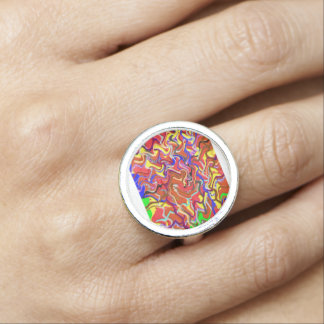 Colorful Waves Spirit Love Romance nvn256 Dating Photo Ring