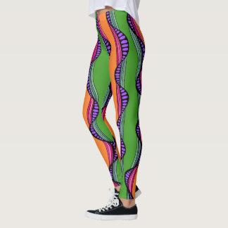 Colorful Wavy Lines Leggings