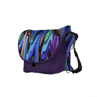 Colorful Wavy Weave Abstract Commuter Bag