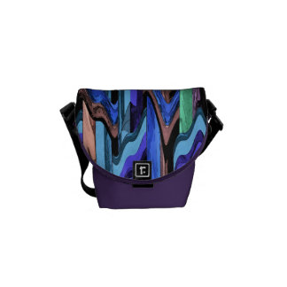 Colorful Wavy Weave Abstract Mini Messenger Bag