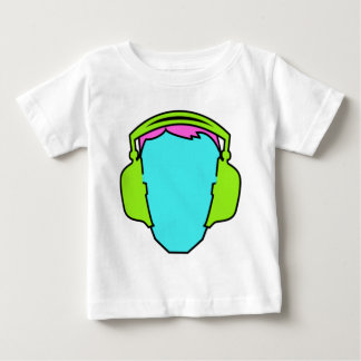Colorful Wearing Headphones Baby T-Shirt