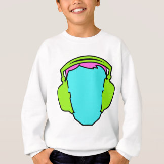 Colorful Wearing Headphones Sweatshirt