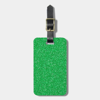 Colorful Wedding Anniversary Green Glitter Luggage Tag