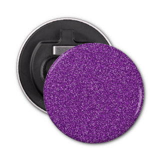 Colorful Wedding Anniversary Purple Glitter Bottle Opener