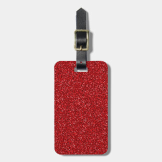 Colorful Wedding Anniversary Red Glitter Texture Luggage Tag
