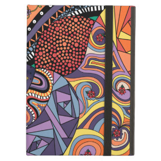 Colorful Whimsical Doodle Abstract Pattern Cover For iPad Air