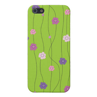 Colorful Whimsy Flower Vines iPhone 5 Cases