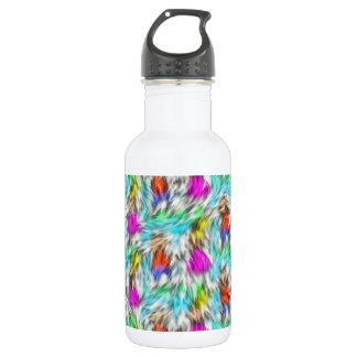Colorful White Leopard Fur Pattern 532 Ml Water Bottle