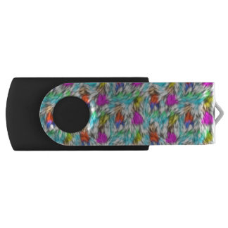 Colorful White Leopard Fur Pattern USB Flash Drive