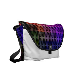 Colorful wicker art graphic design courier bags