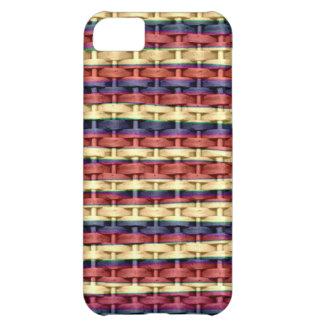Colorful wicker retro art graphic design iPhone 5C case