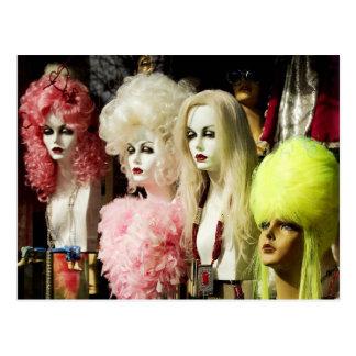 Colorful Wigs Postcard