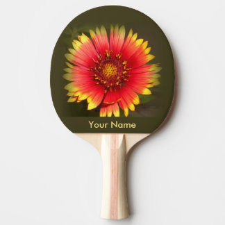 Colorful Wildflower Ping Pong Paddle