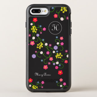 Colorful Wildflowers Garland Monogram & Name OtterBox Symmetry iPhone 8 Plus/7 Plus Case