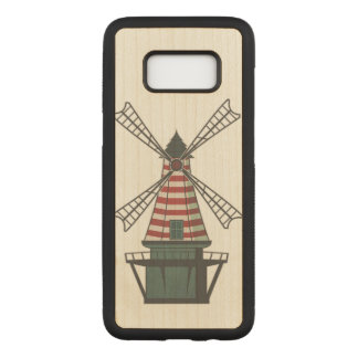 Colorful Windmill Carved Samsung Galaxy S8 Case
