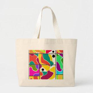 Colorful windows large tote bag