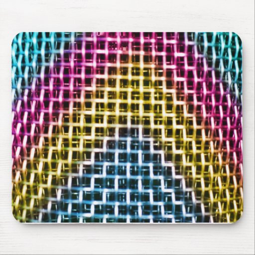 Colorful Wire Grid Cage Mouse Pads