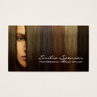 Colorful Woman Hair Haircut Stylist Card