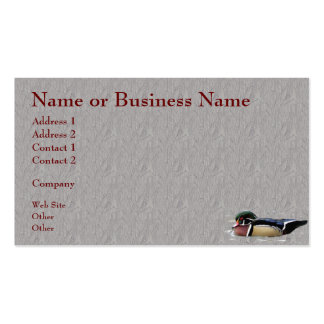 Colorful Wood Duck Business or Profile Card Business Card Template
