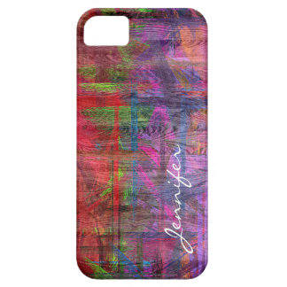 Colorful Wood Grain #3 iPhone 5 Case