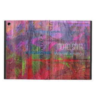 Colorful Wood Grain Monogram Cover For iPad Air
