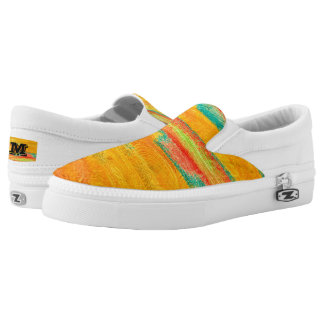 Colorful Wood Grain Texture #10 Printed Shoes