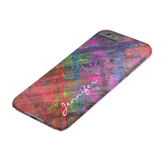 Colorful Wood Grain Texture #2 Barely There iPhone 6 Case