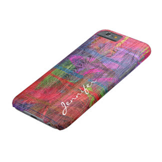 Colorful Wood Grain Texture Barely There iPhone 6 Case