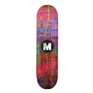 Colorful Wood Grain Texture Monogram 21.6 Cm Skateboard Deck