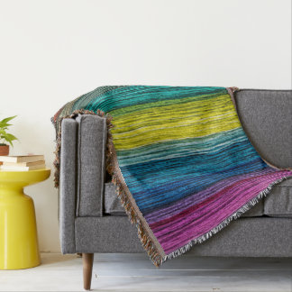 Colorful Wood Pattern Blankets