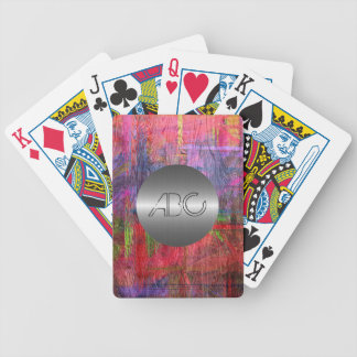 Colorful Wood Texture Modern Stainless Metal #2 Bicycle Playing Cards