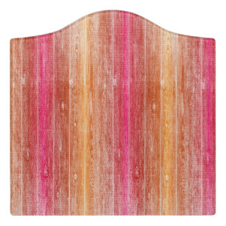 colorful wood wall door sign