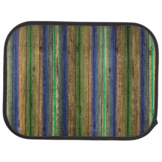 colorful wood wall vintage car mat