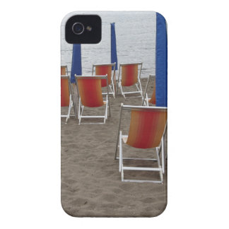 Colorful wooden chairs at sand beach Case-Mate iPhone 4 case