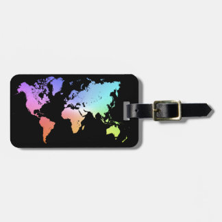 Colorful World Luggage Tag