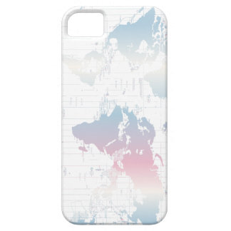Colorful World Map Phone Case Barely There iPhone 5 Case