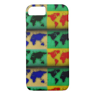 colorful world maps iPhone 7 case