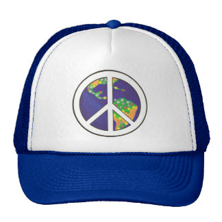 Colorful World Peace Sign Hats