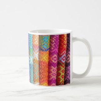 Colorful Woven Textile Coffee Mug