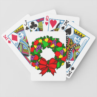Colorful Wreath Bicycle Playing Cards