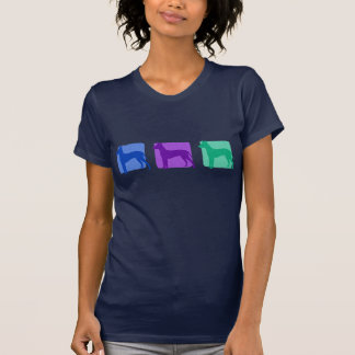 Colorful Xoloitzcuintli Silhouettes T-Shirt