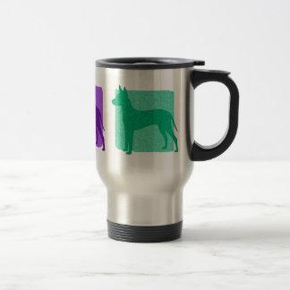 Colorful Xoloitzcuintli Silhouettes Travel Mug