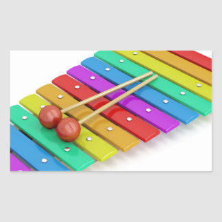 Colorful xylophone rectangular sticker