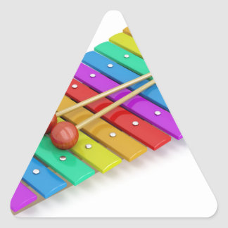 Colorful xylophone triangle sticker